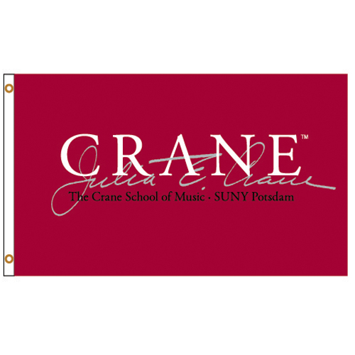 Image For FLAG 3X5 CRANE  MAROON