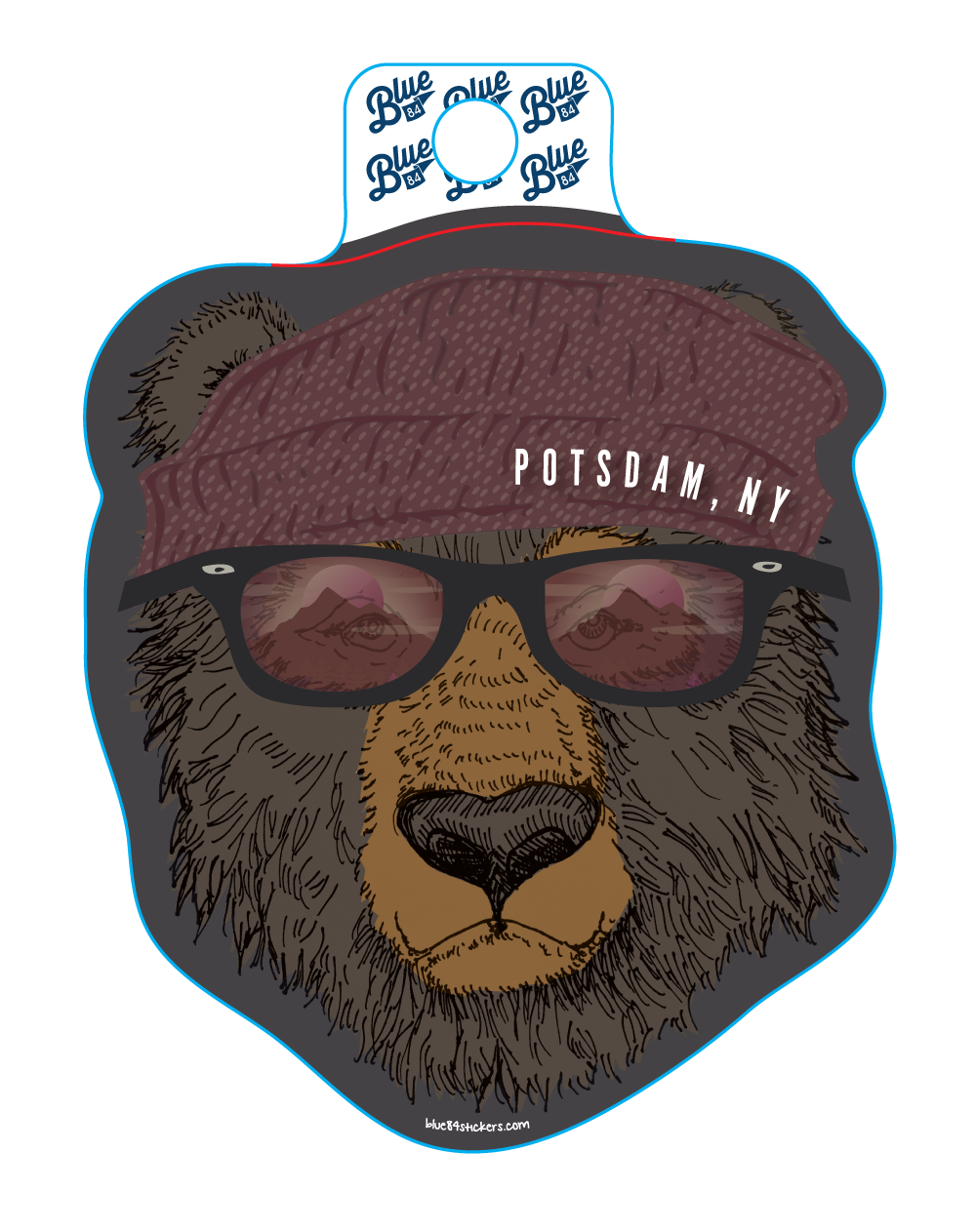 Image For BEAR WITH SUNGLASSES STICKER