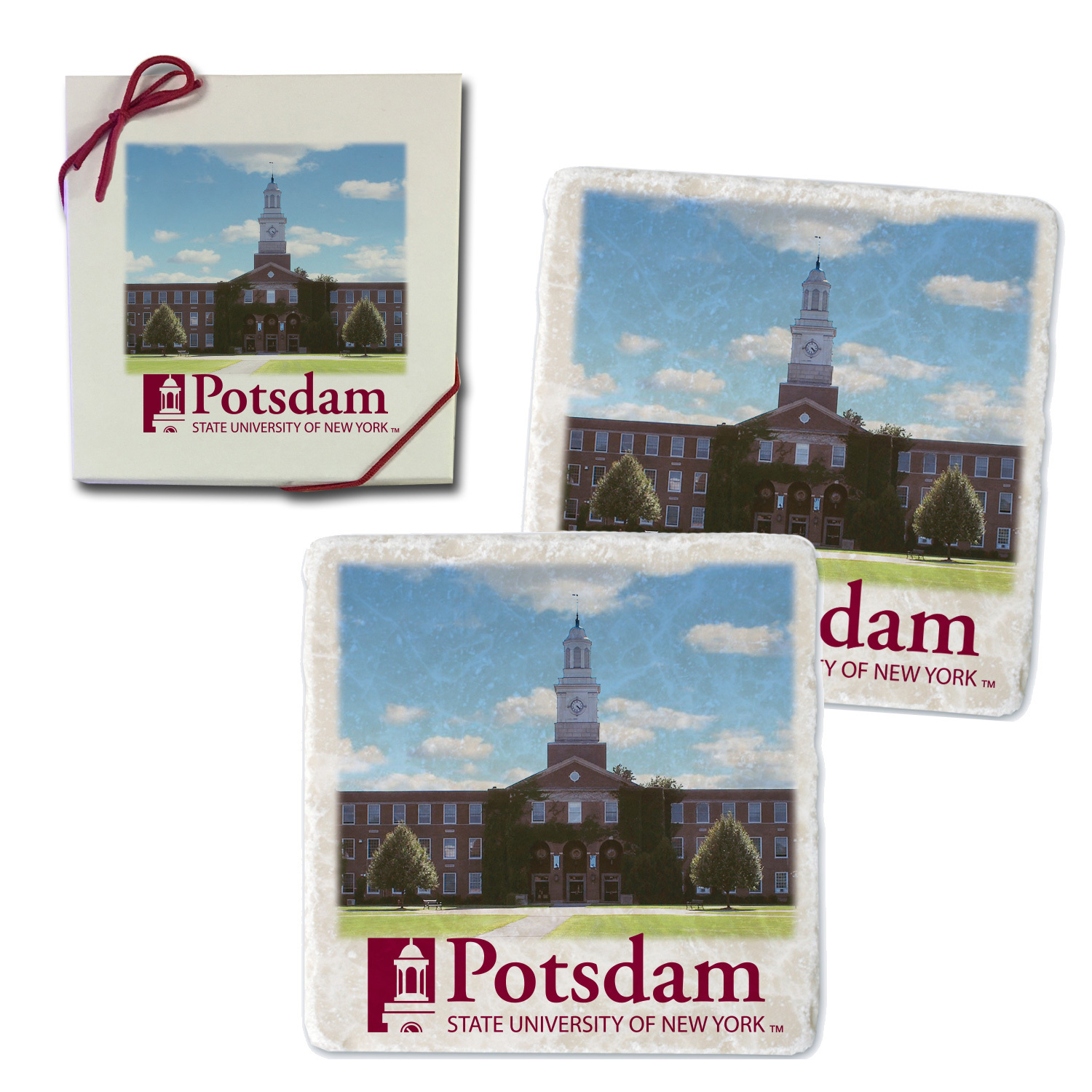 Image For COASTER SET WITH SATERLEE PHOTO AND CLOCK TOWER