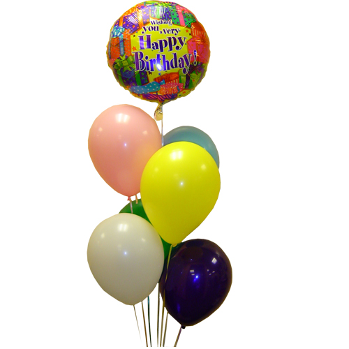 Image For 1 MYLAR 6 LATEX BALLOONS