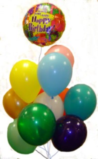 Image For 1 MYLAR 12 LATEX BALLOONS