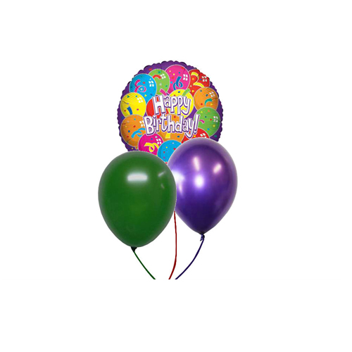 Image For 1 MYLAR 2 LATEX BALLOONS